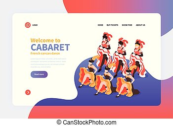 Welcome To Cabaret Isometric Landing Page