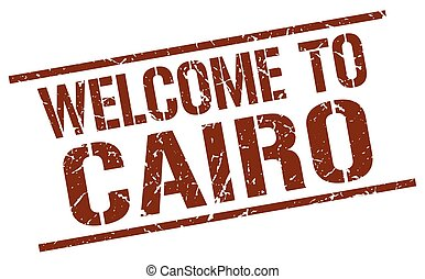 welcome to Cairo stamp