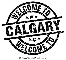 welcome to Calgary black stamp