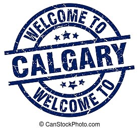 welcome to Calgary blue stamp