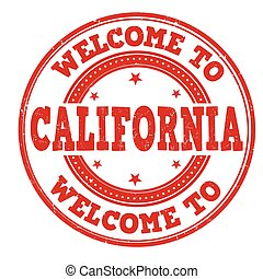 Welcome to California sign or stamp