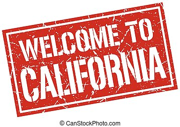 welcome to California stamp