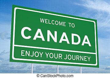 Welcome to Canada concept