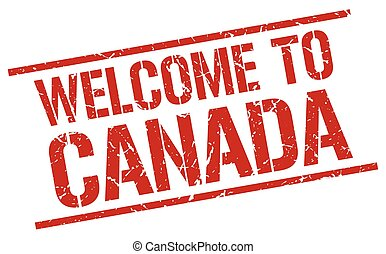 welcome to Canada stamp