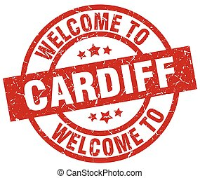 welcome to Cardiff red stamp