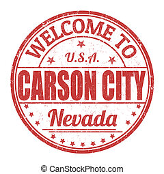 Welcome to Carson City grunge rubber stamp on white background, vector illustration