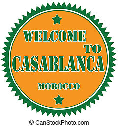 Welcome To Casablanca-label