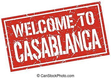 welcome to Casablanca stamp