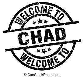 welcome to Chad black stamp