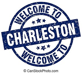 welcome to Charleston blue stamp