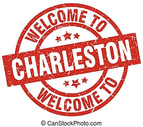 welcome to Charleston red stamp