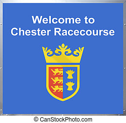 Welcome to Chester Racecourse sign