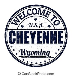 Welcome to Cheyenne stamp