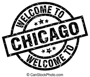 welcome to Chicago black stamp