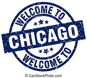 welcome to Chicago blue stamp