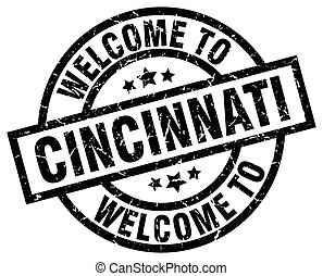welcome to Cincinnati black stamp