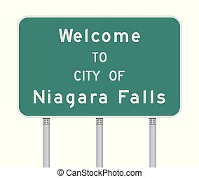 Welcome to City of Niagara Falls road sign