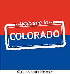 Welcome to COLORADO of US State illustration design