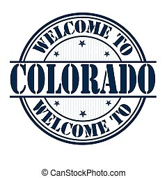 Welcome to Colorado sign or stamp