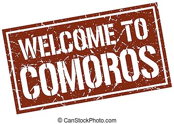 welcome to Comoros stamp