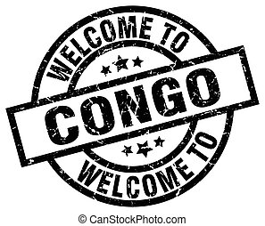 welcome to Congo black stamp