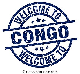 welcome to Congo blue stamp