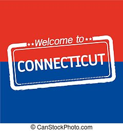 Welcome to CONNECTICUT of US State illustration design
