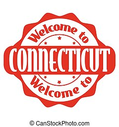 Welcome to Connecticut sign or stamp