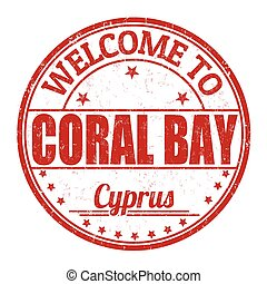 Welcome to Coral Bay stamp