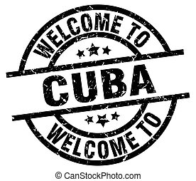 welcome to Cuba black stamp