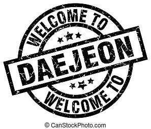 welcome to Daejeon black stamp