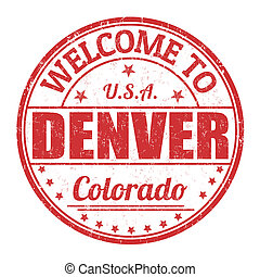 Welcome to Denver stamp