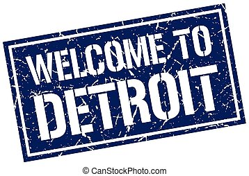 welcome to Detroit stamp