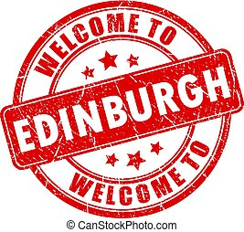 Welcome to Edinburgh red stamp