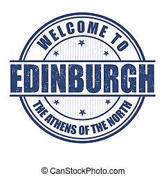 Welcome to Edinburgh stamp