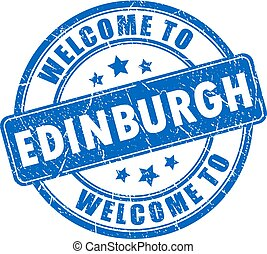 Welcome to Edinburgh stamp