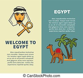Welcome to Egypt vertical posters with bedouin and camel -...