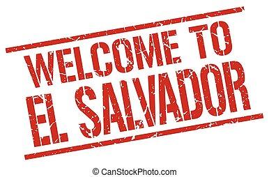 welcome to El Salvador stamp