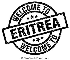 welcome to Eritrea black stamp