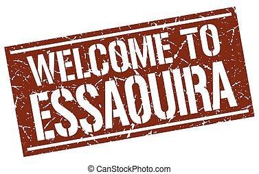 welcome to Essaouira stamp