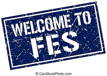 welcome to Fes stamp