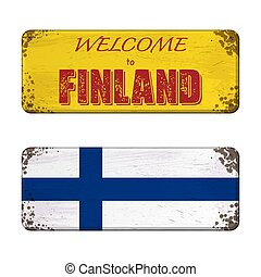 Welcome to Finland nameplate