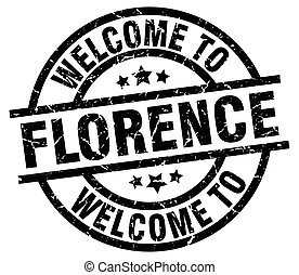welcome to Florence black stamp