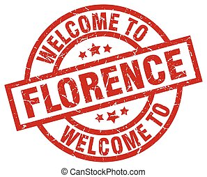 welcome to Florence red stamp