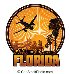 Welcome to Florida label or stamp - Welcome to Florida...