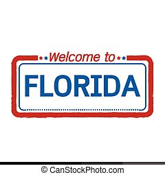 Welcome to FLORIDA of US State illustration design
