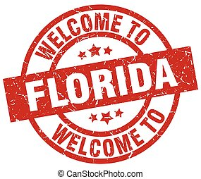 welcome to Florida red stamp