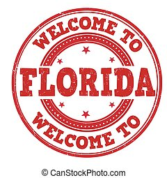 Welcome to Florida sign or stamp