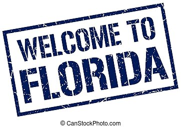 welcome to Florida stamp