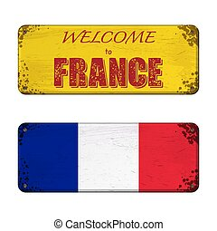 Welcome to France nameplate